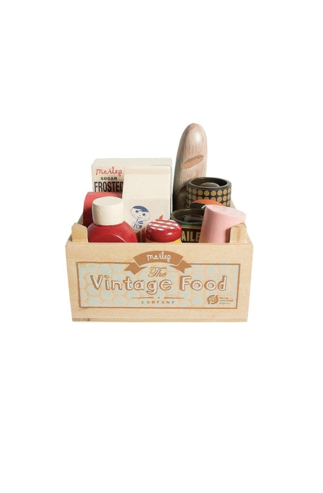 Maileg Vintage Food In Wooden Box