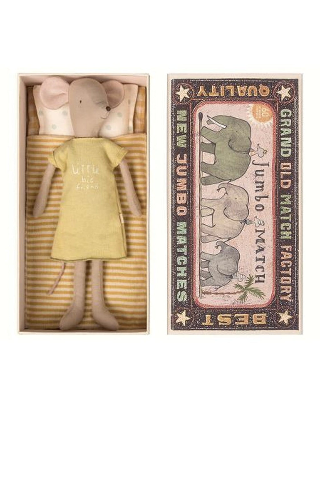 Maileg Mouse Medium Girl in Box - Hello Little Birdie