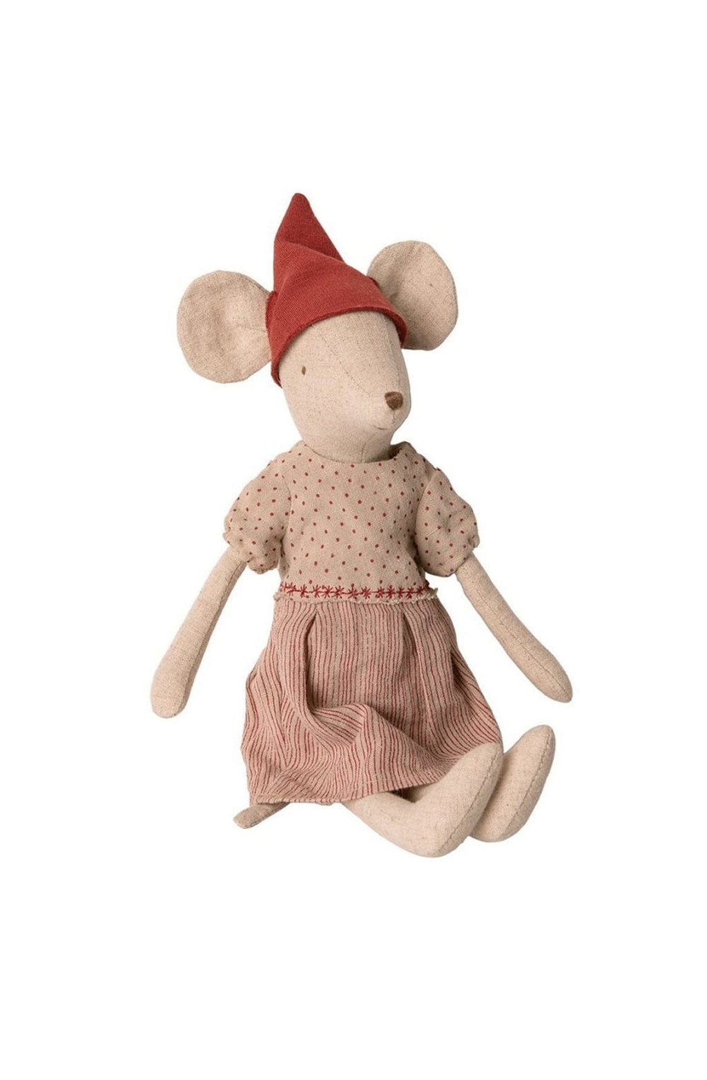 Maileg Christmas Mouse Girl Medium - Hello Little Birdie