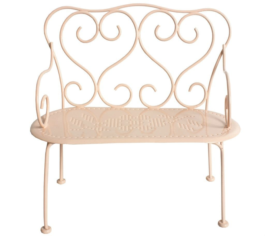 Maileg, Mini Romantic Bench in Powder Pink