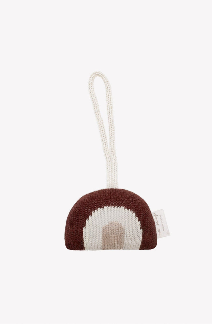 Main Sauvage rainbow hanging rattle - Hello Little Birdie