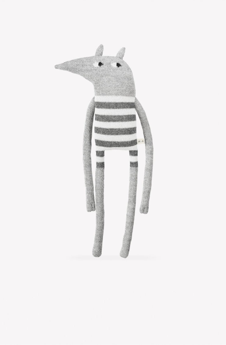 Main Sauvage Large Wolf Knit Toy - Hello Little Birdie