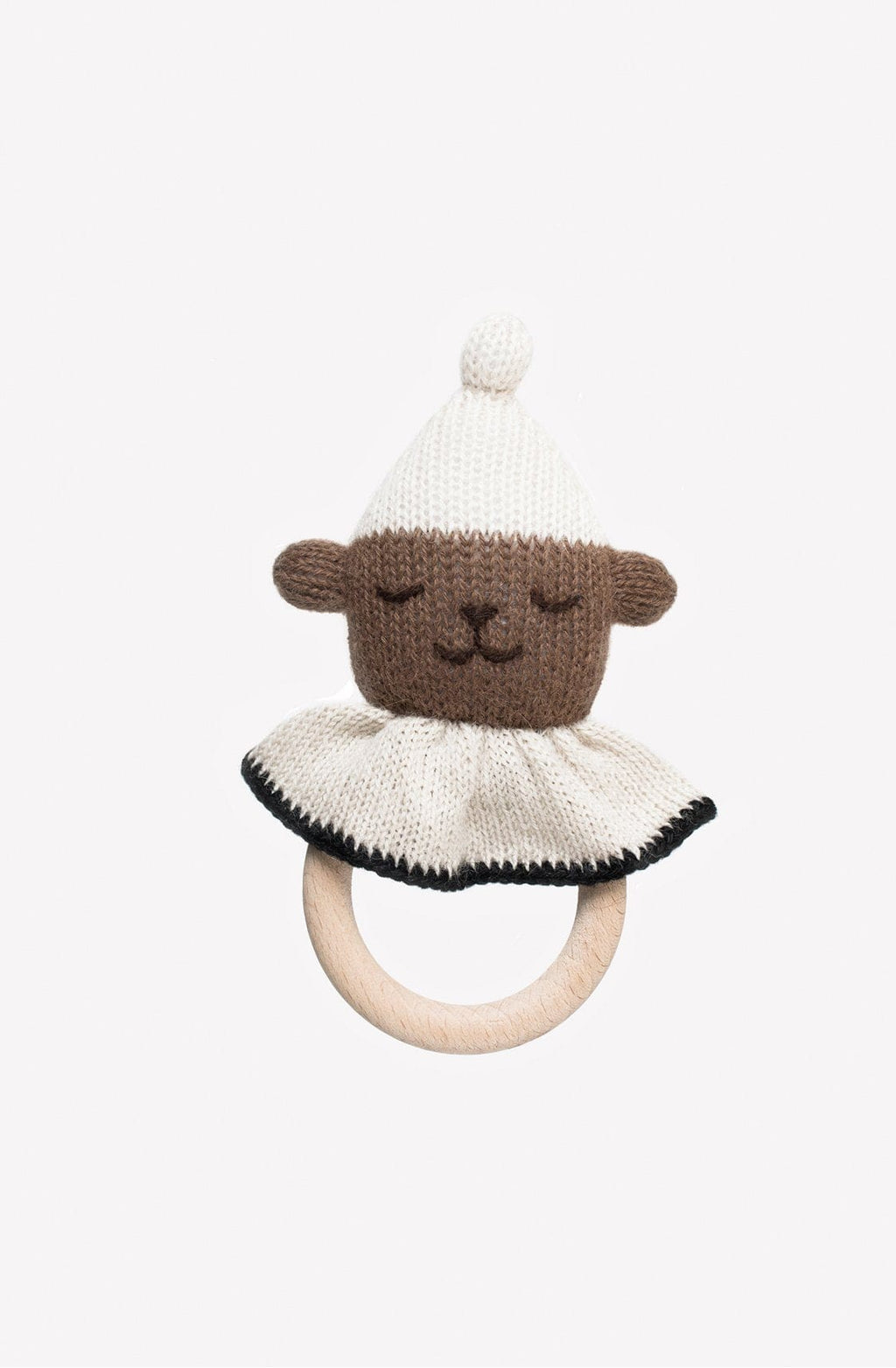Main Sauvage Teething Ring, Teddy Bear (PRE-ORDER NOV) - Hello Little Birdie