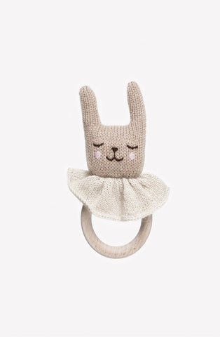 Main Sauvage Teething Ring, Rabbit (PRE-ORDER NOV)
