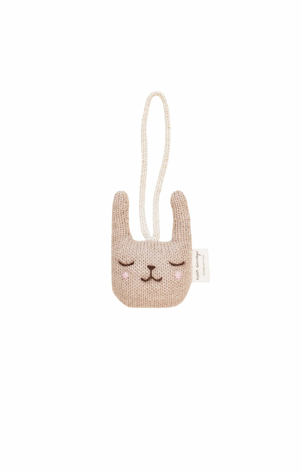 Main Sauvage rabbit hanging rattle