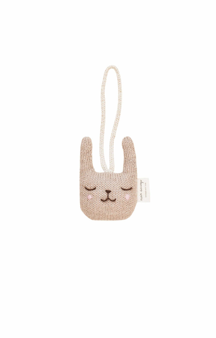 Main Sauvage rabbit hanging rattle - Hello Little Birdie
