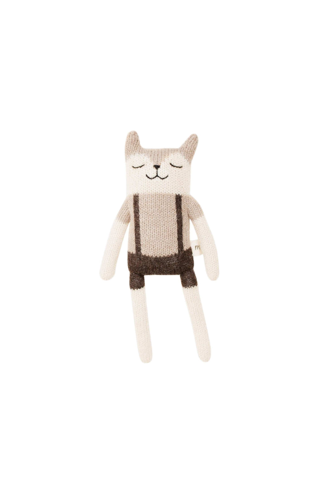 Main Sauvage fawn knit toy with overalls (Pre-Order Feb)