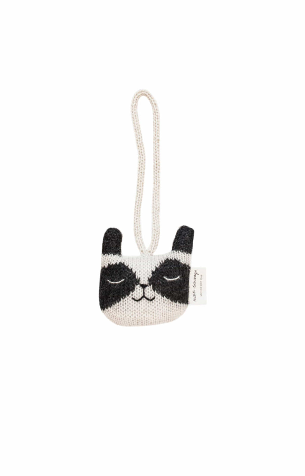 Main Sauvage raccoon hanging rattle