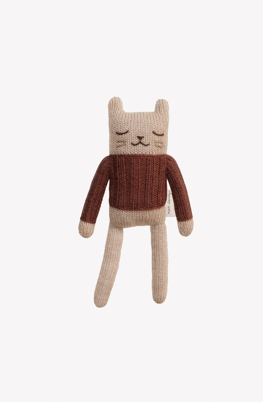 Main Sauvage Kitten soft toy, sienna sweater - Hello Little Birdie