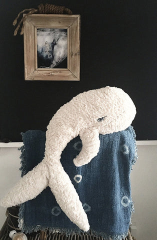 "Unclebearskin Productions, ""MIGALOO"" soft toy whale"