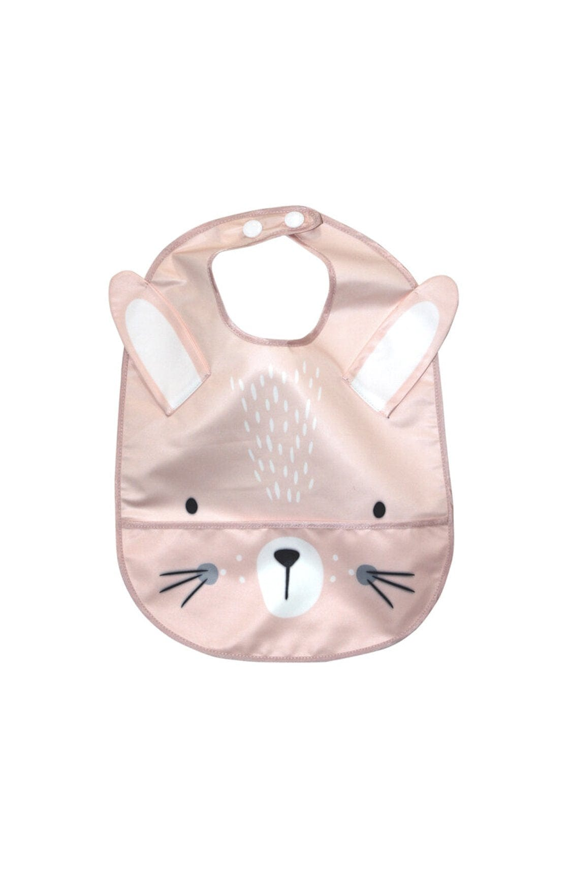Mister Fly Wipeable Pink Bunny Feeding Bib - Hello Little Birdie