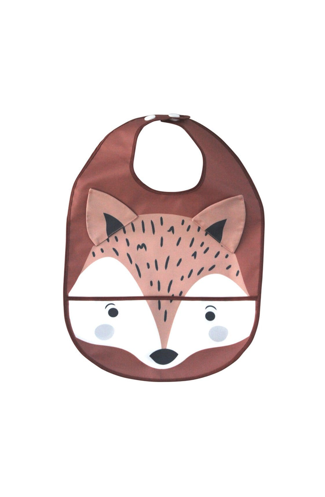 Mister Fly Wipeable Fox Feeding Bib - Hello Little Birdie