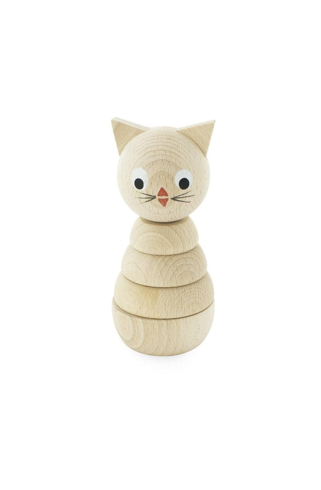 Miva Vacov Wooden Stacking Puzzle, Cat - Hello Little Birdie