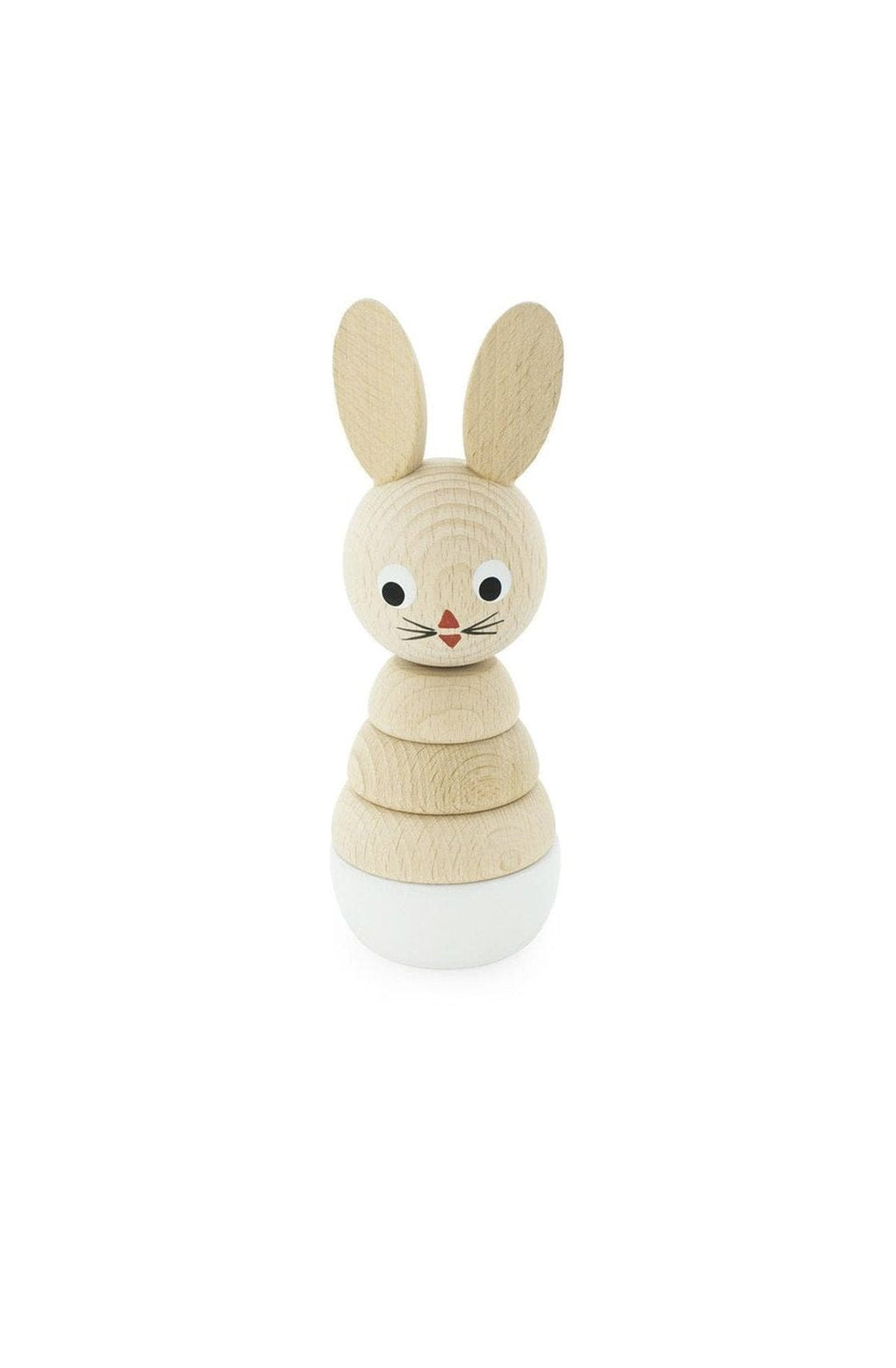 Miva Vacov Wooden Rabbit Stacking Puzzle, White Bunny