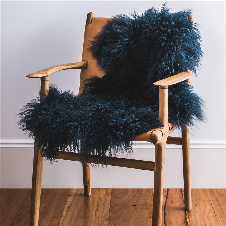 Mongolian Sheepskin Rug - Moss - Hello Little Birdie