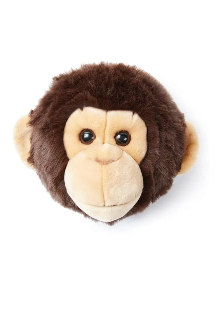 WILD & SOFT PLUSH ANIMAL HEAD JOE THE MONKEY - Hello Little Birdie