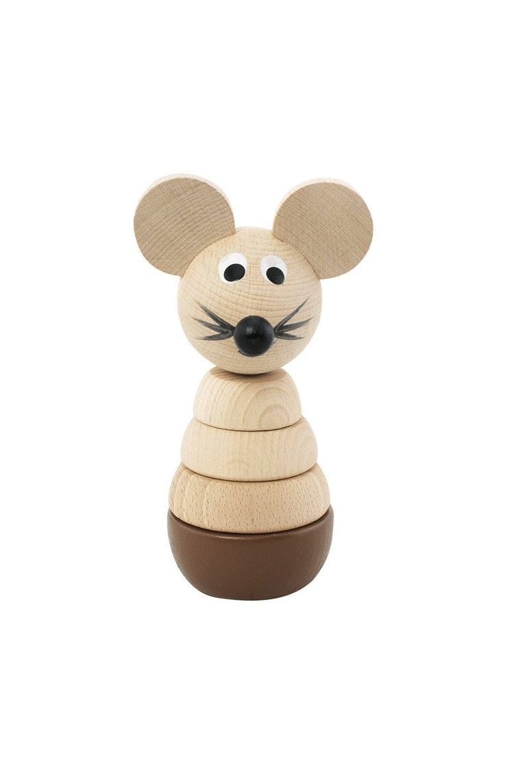 Miva Vacov Wooden Mouse Stacking Puzzle, Murphy - Hello Little Birdie