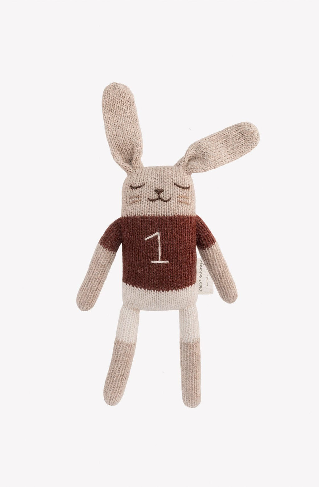 Main Sauvage Bunny Soft Toy, Sienna shirt - Hello Little Birdie