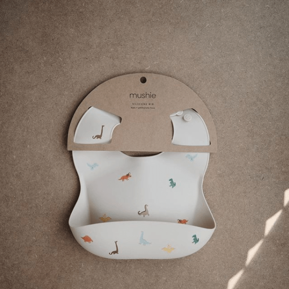 Mushie Silicone Baby Bib, Safari Tan - Hello Little Birdie