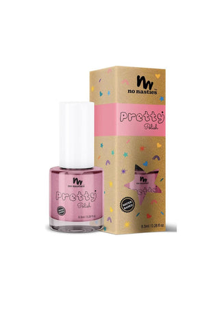 No Nasties, Pink WATER-BASED, PEELABLE NAIL POLISH FOR KIDS - Hello Little Birdie