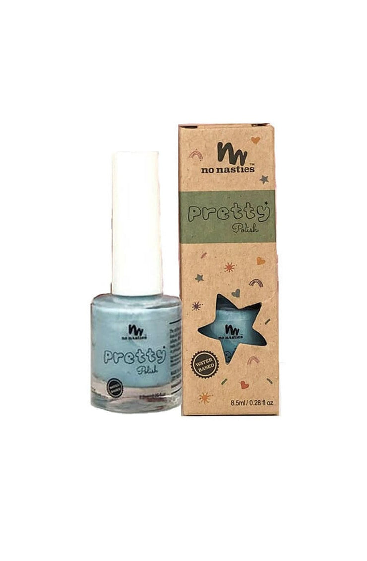 No Nasties, Water-Based, Peelable Nail Polish for Kids, Teal - Hello Little Birdie
