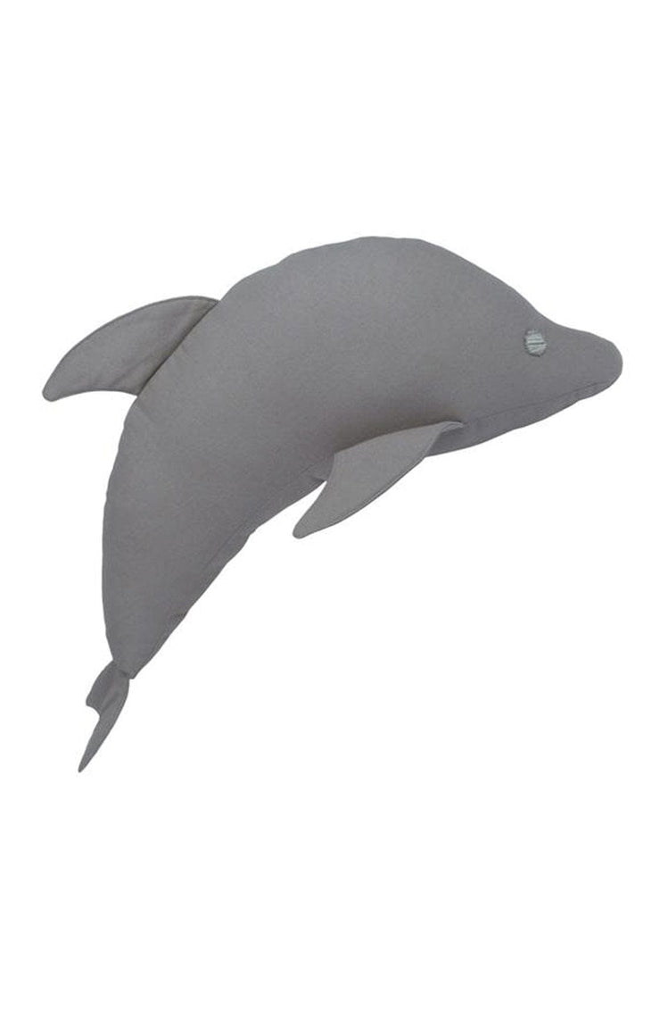 NUMERO 74 WILLY DOLPHIN CUSHION STONE GREY - Hello Little Birdie