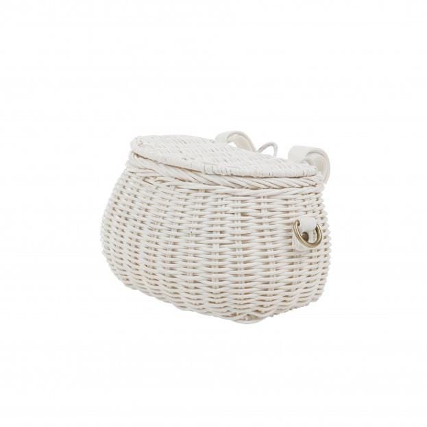Olli Ella Mini Chari Bag, White - Hello Little Birdie