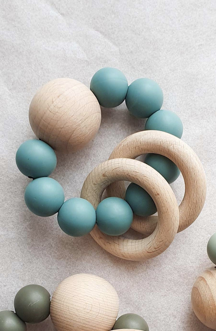 Dove and Dovelet SATURN Silicone Teething Toy, Oil - Hello Little Birdie