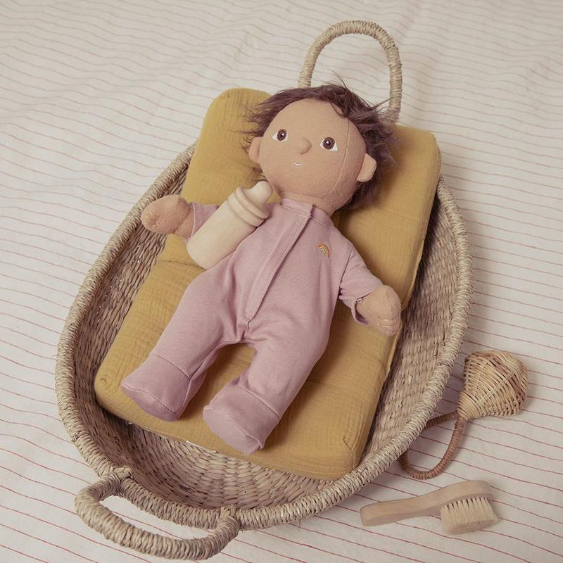Olli Ella Dinkum Doll Pyjamas, Blush - Hello Little Birdie