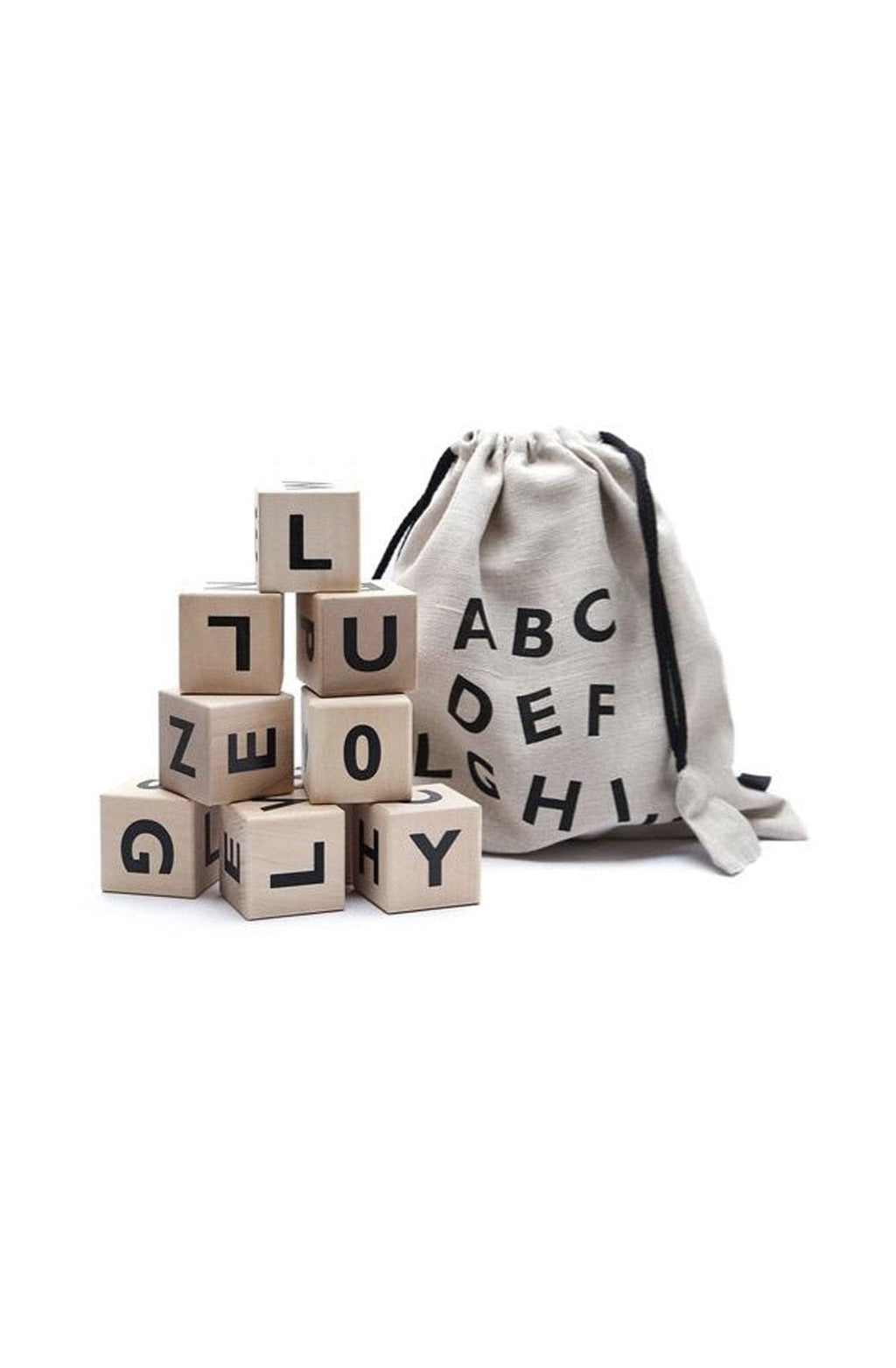 OOH NOO ALPHABET BLOCKS, BLACK