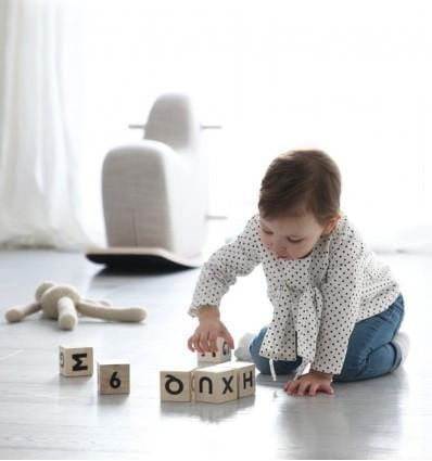 OOH NOO ALPHABET BLOCKS, WHITE