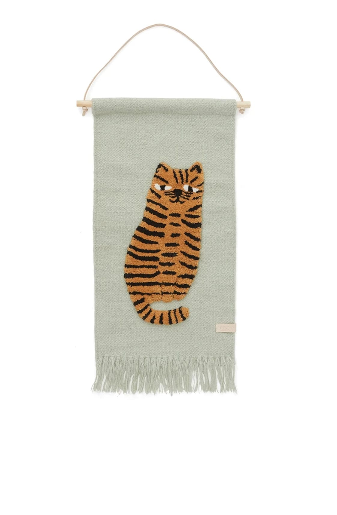 OYOY Tiger Wallhanger Green - Hello Little Birdie
