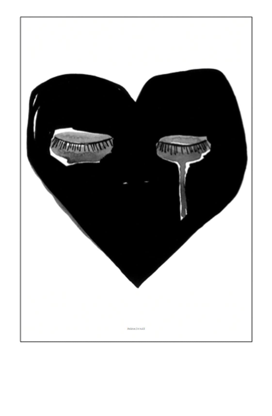CRYING HEART PRINT, 50 x 70CM - Hello Little Birdie