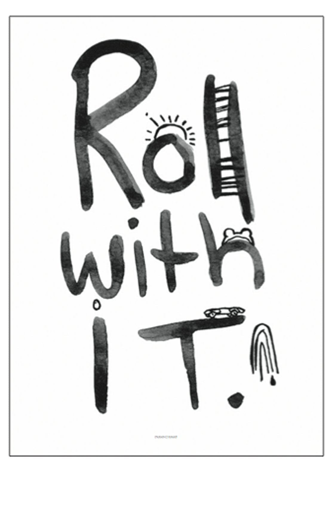 ROLL WITH IT PRINT, 50 x 70CM - Hello Little Birdie