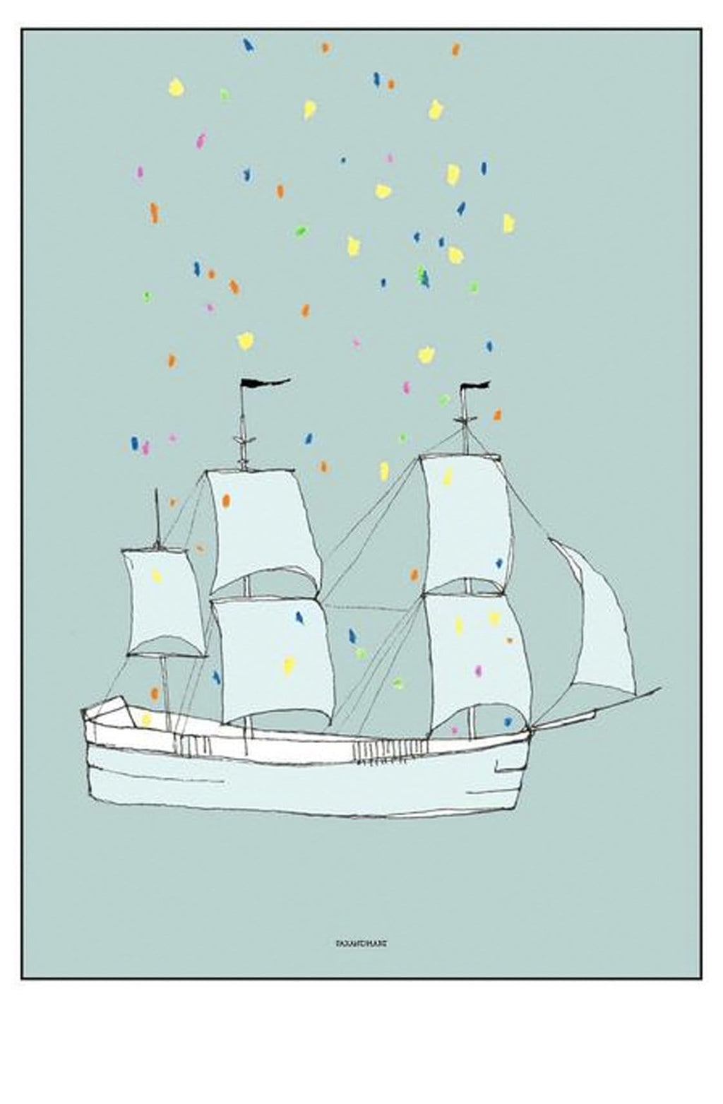 PAX AND HART THIS SHIP HAS SAILED POSTER, 50 x 70CM - Hello Little Birdie