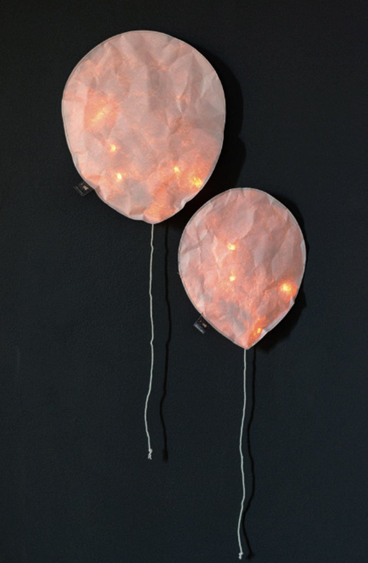 Ekaterina Galera Paper Coloured Light Balloon, Blush Pink Large (PRE-ORDER JULY) - Hello Little Birdie