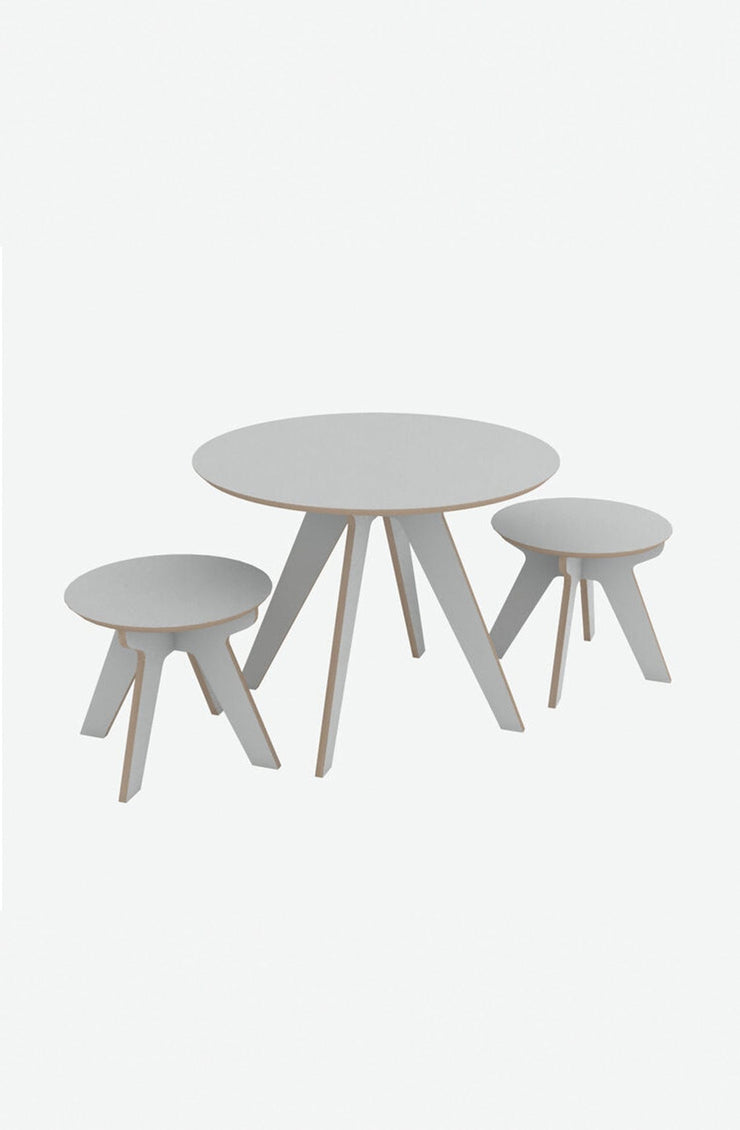 The Play Set, Table + Stools - Cloud - Hello Little Birdie