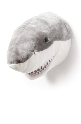 Wild and Soft Plush Wall Head Jack the Shark (PRE-ORDER DEC) - Hello Little Birdie