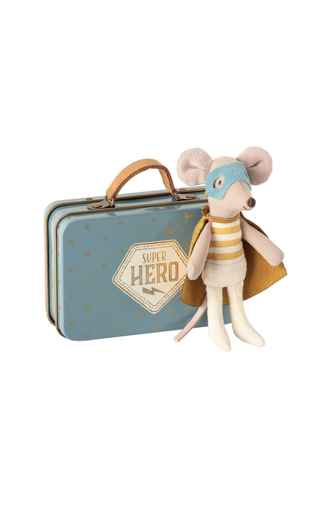 Maileg Superhero Mouse in a Suitcase - Hello Little Birdie