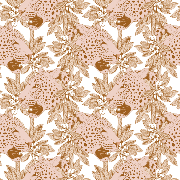 May and Fay, Wallpaper Pinky Leopard - Hello Little Birdie