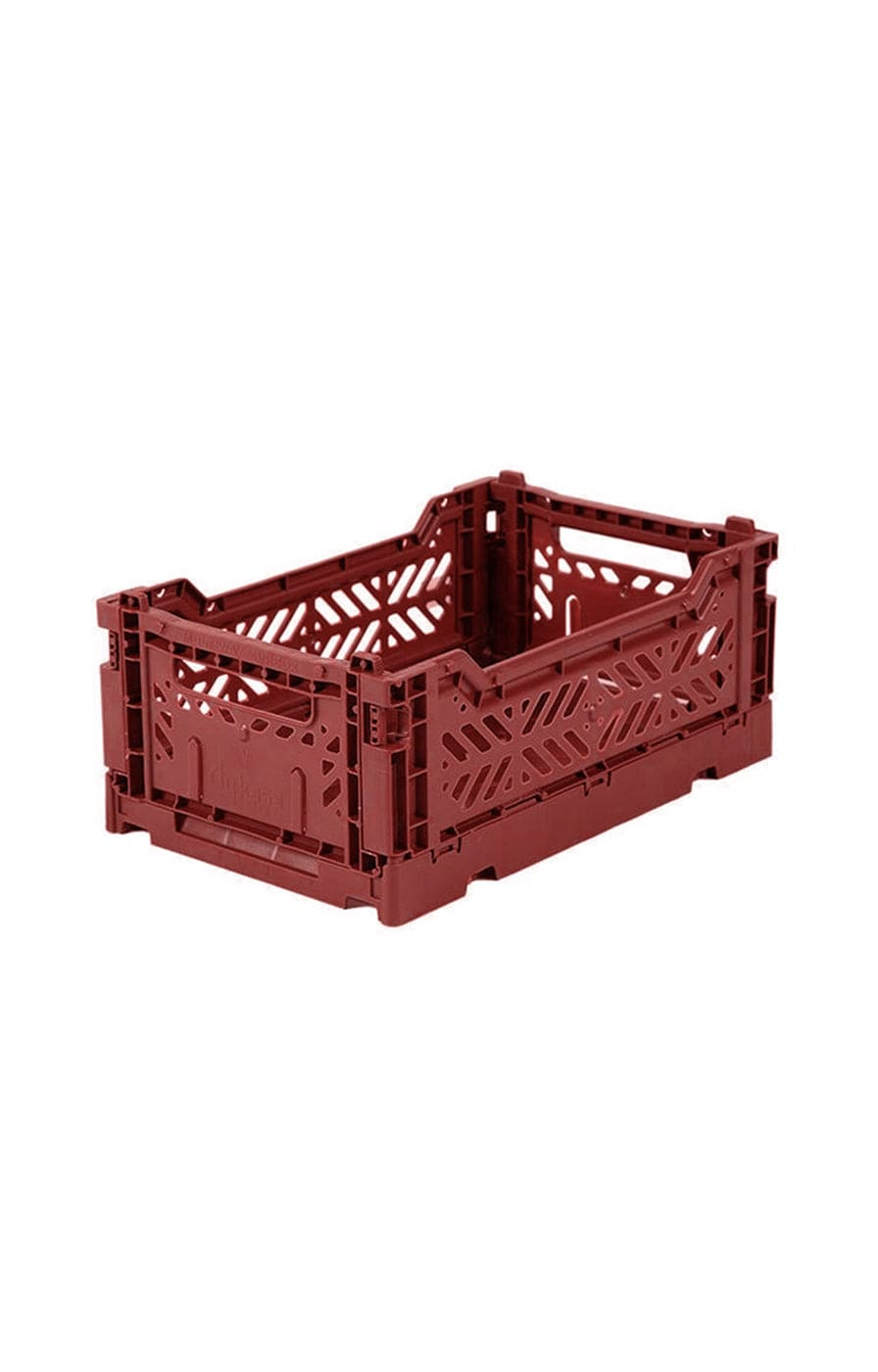 AYKASA Small Box Storage Crate, Tile Red - Hello Little Birdie