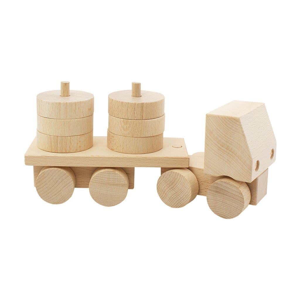 Miva Vacov Wooden Stacking Truck, Hudson - Hello Little Birdie
