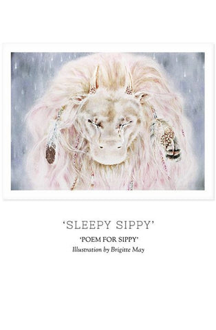 Unclebearskin Productions, POEM FOR SIPPY - 'SLEEPY SIPPY' Print