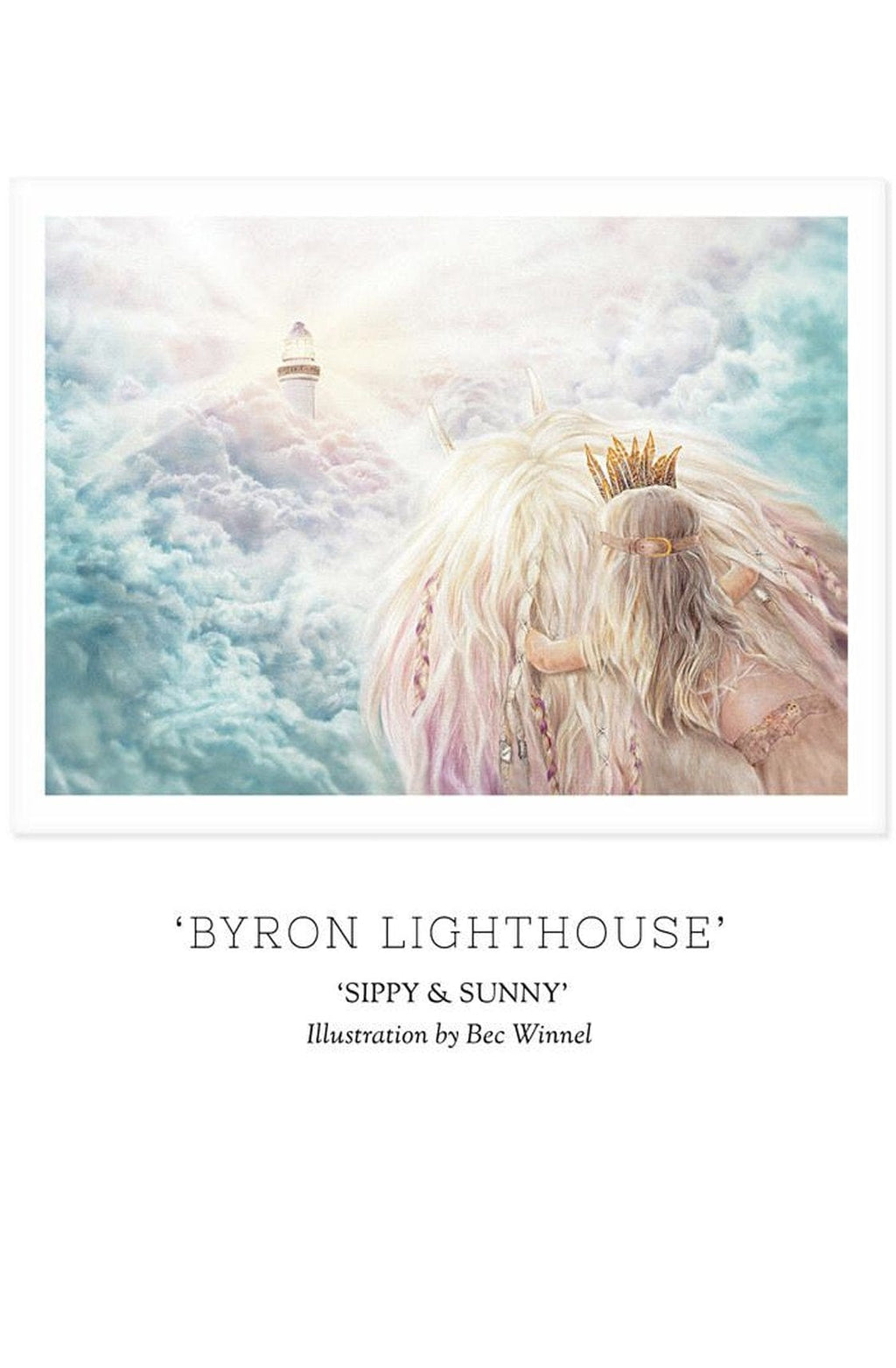 Unclebearskin Productions, SIPPY & SUNNY - 'BYRON LIGHTHOUSE' Print - Hello Little Birdie