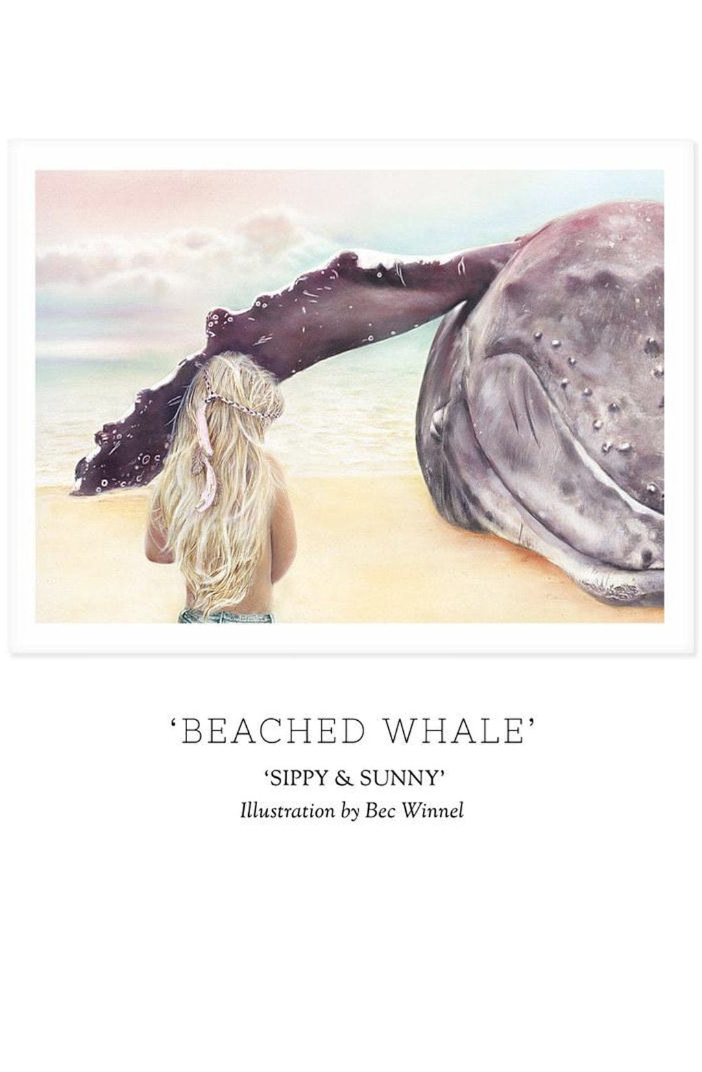 SIPPY & SUNNY - 'BEACHED WHALE' Print