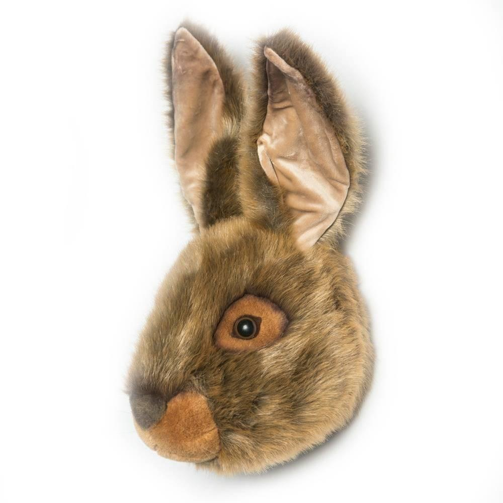 Wild and Soft Plush Wall Head Lewis the Hare