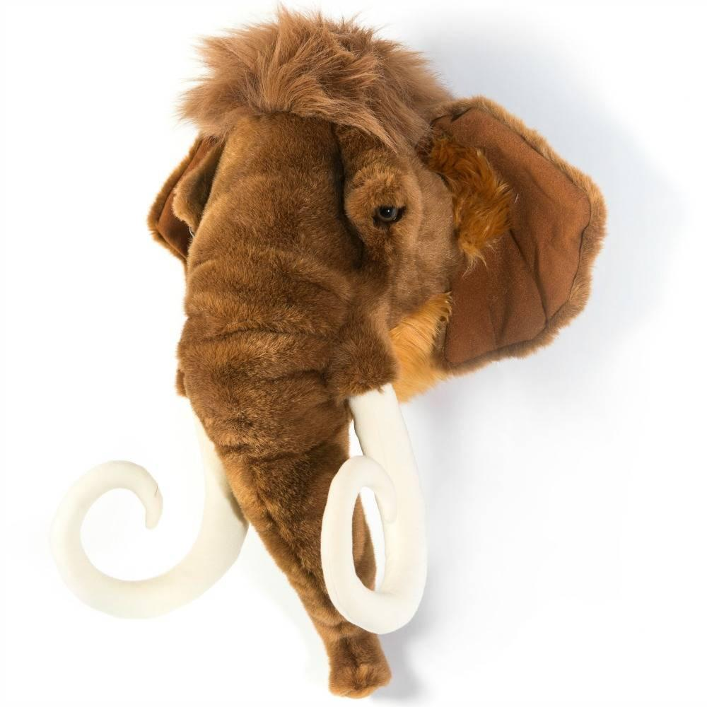 Wild and Soft Plush Wall Head Arthur the Mammoth (PRE-ORDER AUG)