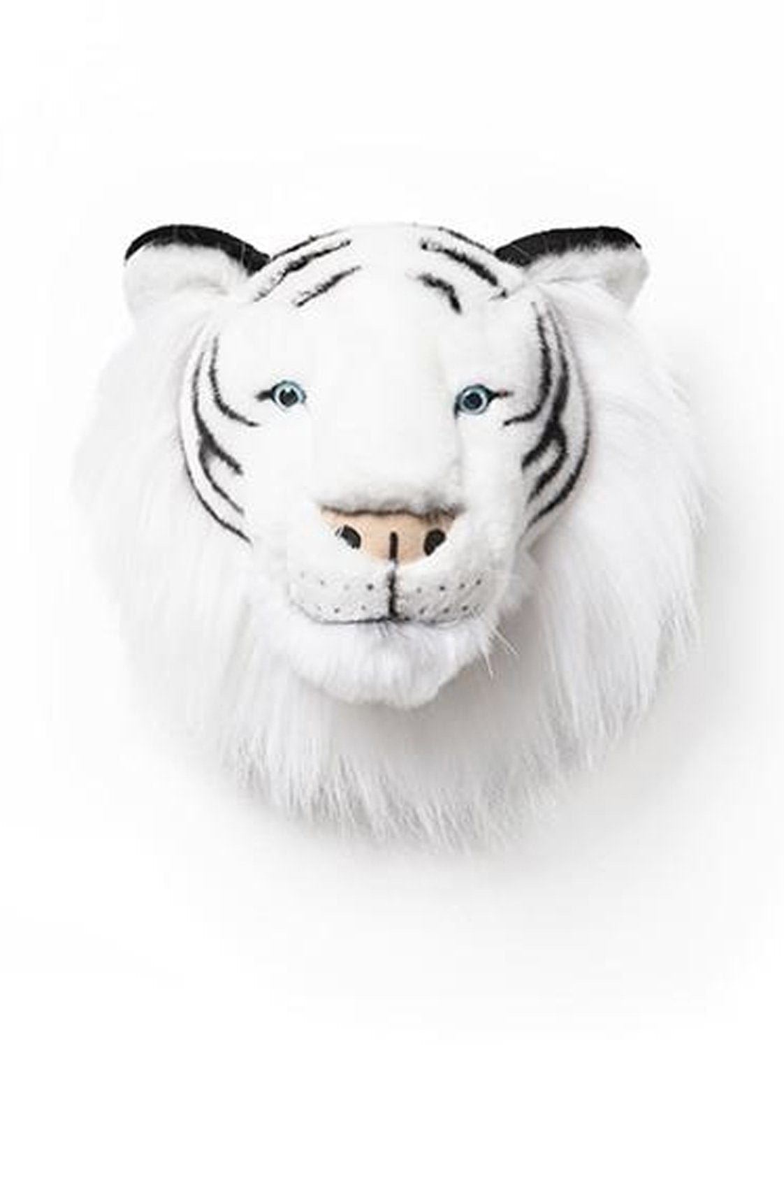 WILD & SOFT PLUSH ANIMAL HEAD ALBERT THE WHITE TIGER (PRE-ORDER JAN)