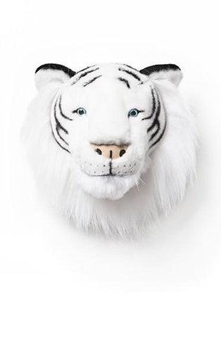 WILD & SOFT PLUSH ANIMAL HEAD ALBERT THE WHITE TIGER (PRE-ORDER DEC) - Hello Little Birdie