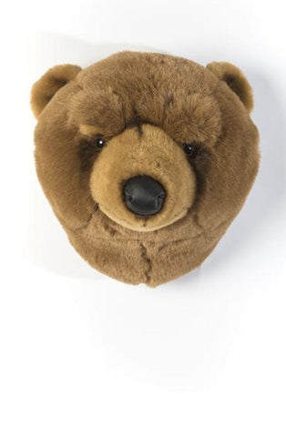 Wild and Soft Plush Wall Head Oliver the Bear